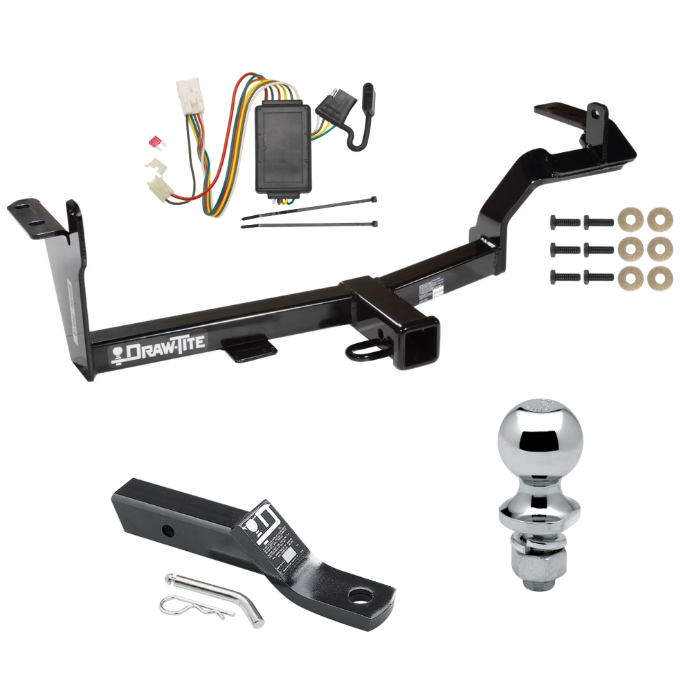 hight resolution of trailer tow hitch for 06 08 mitsubishi endeavor complete package w wiring and 1 7 8 ball