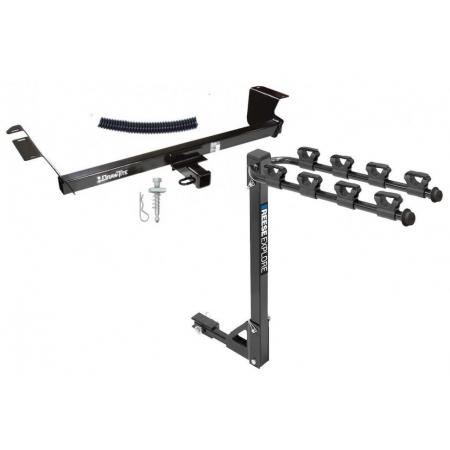 Trailer Tow Hitch w/ 4 Bike Rack For 08-21 Chrysler Dodge
