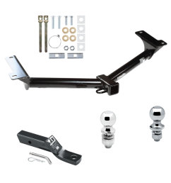 trailer tow hitch for 09 18 dodge journey receiver w 1 7 8 and 2 ball 2011 gmc acadia trailer receiver tow hitch w plugplay wiring harness [ 1000 x 1000 Pixel ]