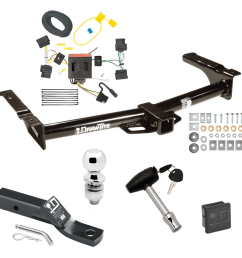 trailer tow hitch for 08 14 ford van e150 e250 e350 deluxe package wiring 2 ball  [ 1000 x 1000 Pixel ]