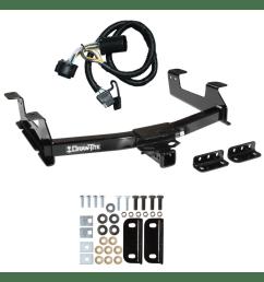 trailer tow hitch for 11 14 chevy gmc silverado sierra 2500 3500 hd w wiring harness kit [ 1000 x 1000 Pixel ]