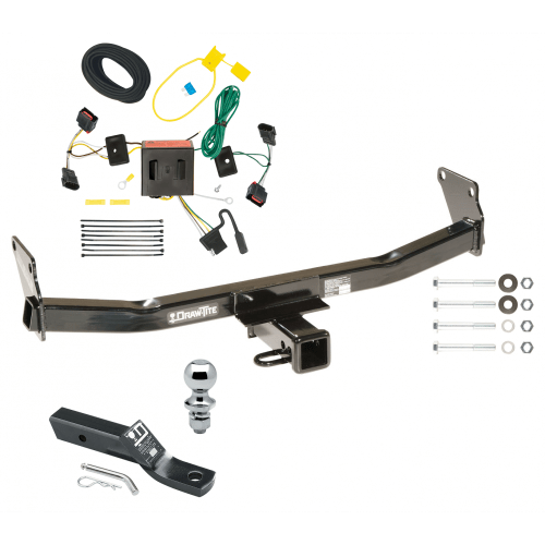 small resolution of trailer tow hitch for 08 17 jeep patriot complete package w wiring and 1 7 8 ball