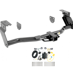 trailer tow hitch for 14 15 jeep cherokee trailhawk w wiring harness kit [ 1000 x 1000 Pixel ]