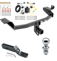 trailer tow hitch for 14 18 jeep cherokee complete package w wiring and 1 7 8 ball [ 1000 x 1000 Pixel ]