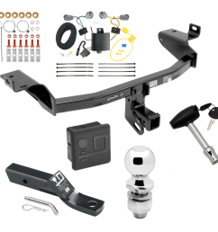 trailer tow hitch for 2019 jeep cherokee deluxe package wiring 2 ball and lock [ 1000 x 1000 Pixel ]