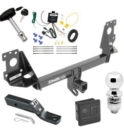 trailer tow hitch for 17 19 audi q7 deluxe package wiring 2 ball and lock [ 1000 x 1000 Pixel ]