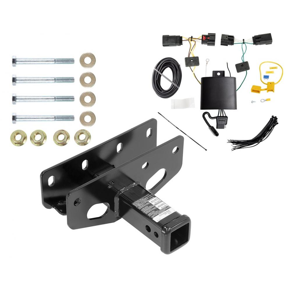 medium resolution of trailer tow hitch for 18 19 jeep wrangler jl including sahara and rubicon w