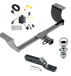 trailer tow hitch for 11 14 chrysler 300 complete package w wiring and 1 7 8 ball [ 1000 x 1000 Pixel ]