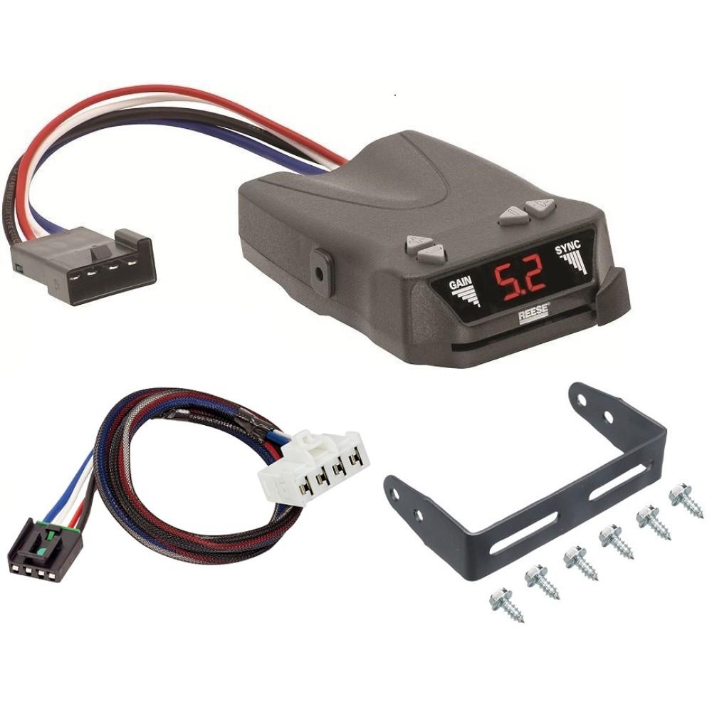 hight resolution of trailer brake control for 07 09 chrysler aspen w plug play wiring adapter reese brakeman iv