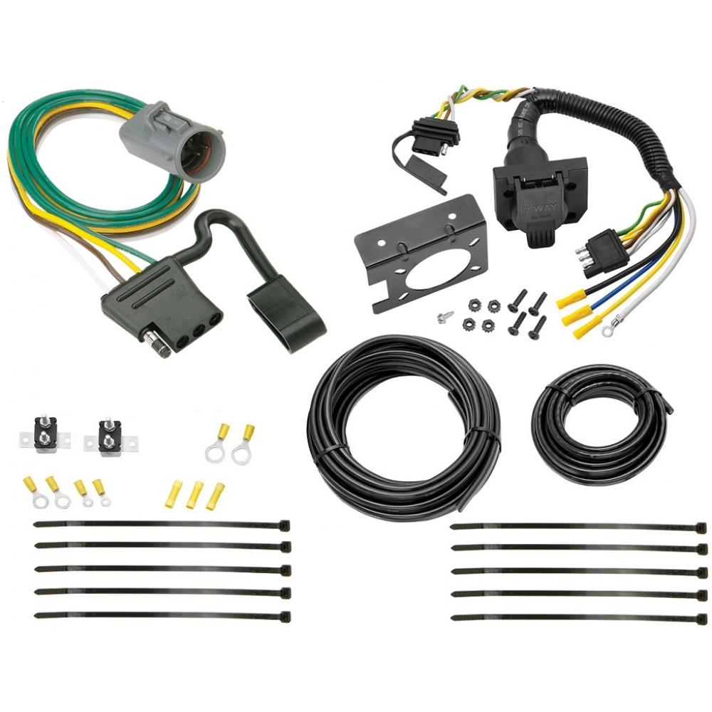 hight resolution of 95 01 ford explorer 98 99 ranger 7 way rv trailer wiring kit plug prong pin harness