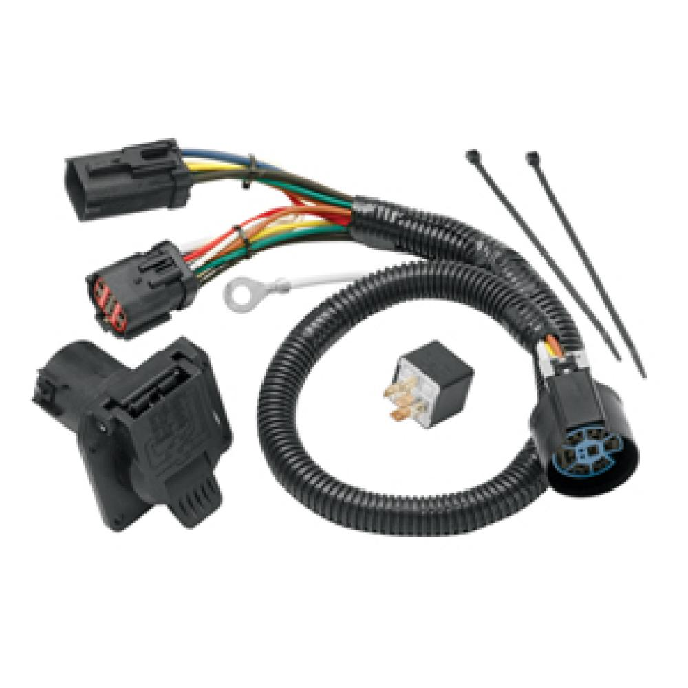 medium resolution of 7 way rv trailer wiring harness kit for 2004 ford f 150 w factory 4 flat2004