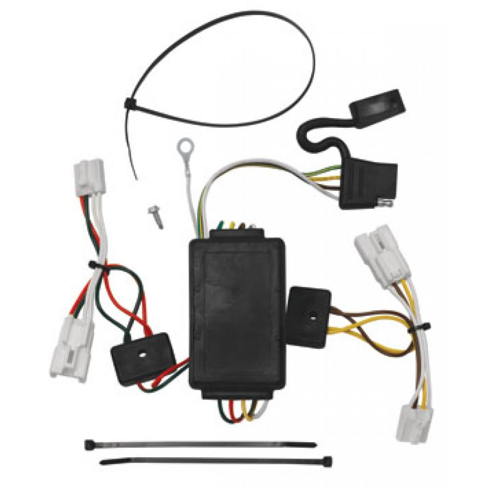 hight resolution of trailer wiring harness kit for 07 12 hyundai santa fe 10 13 kia forte 4 dr sedan