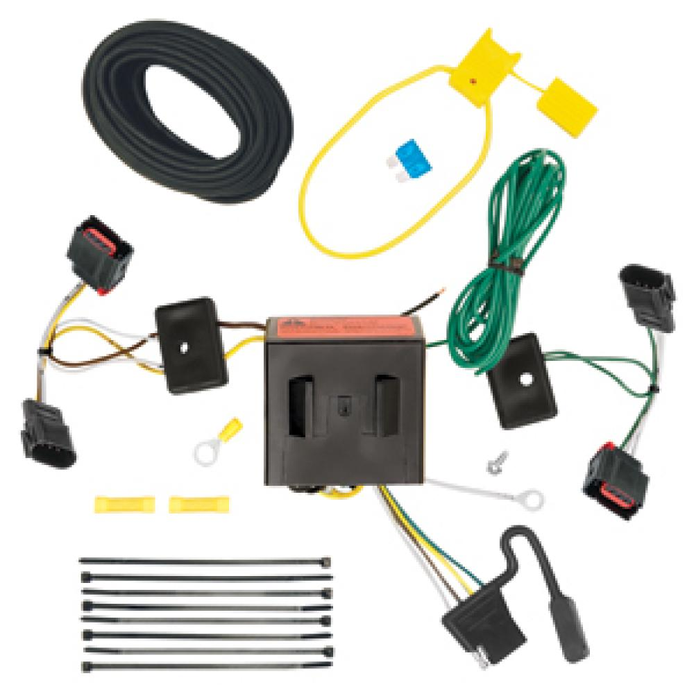 medium resolution of trailer wiring harness kit for 08 17 jeep patriot 08 10 chrysler town country dodge