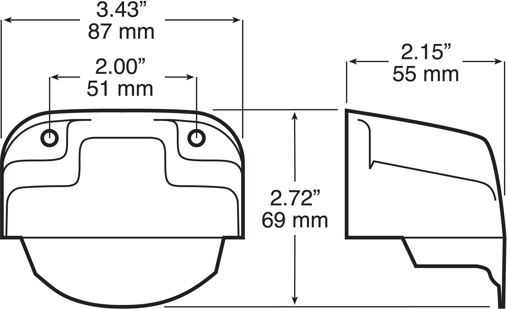 Black License Plate Utility Light Bracket For 150 Series