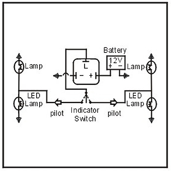 led trailer lights wiring diagram motorcycle electrical thread relay flasher 2 pin univ 12v | jaycar electronics
