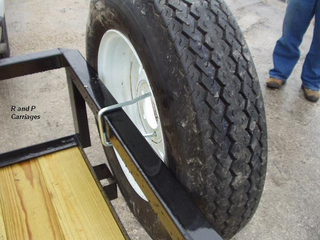 Trailer Spare Tire Mount U Bolt Style With Lock Fits 4 Or