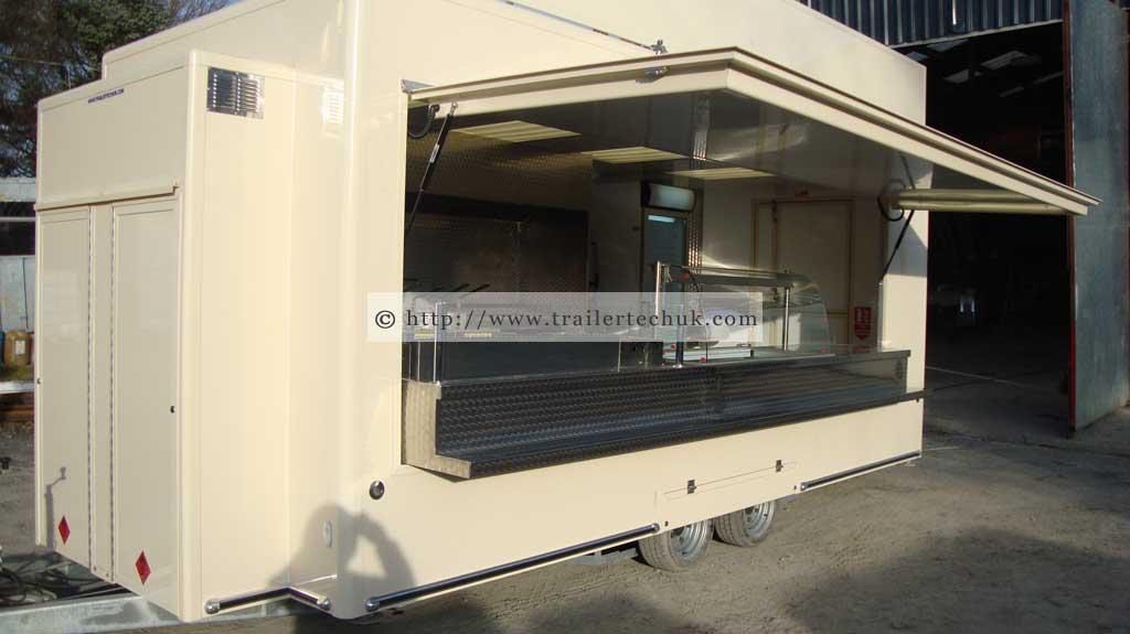 kitchen degin gel mat trailer tech uk - bespoke catering trailers photo gallery