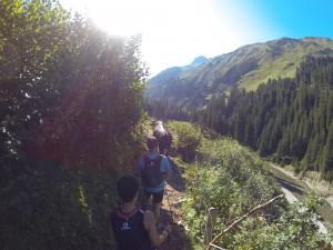 Stau auf dem Trail