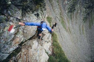 Kletterstelle vor Marburger Hütte. Foto von Kelvin Trautmann