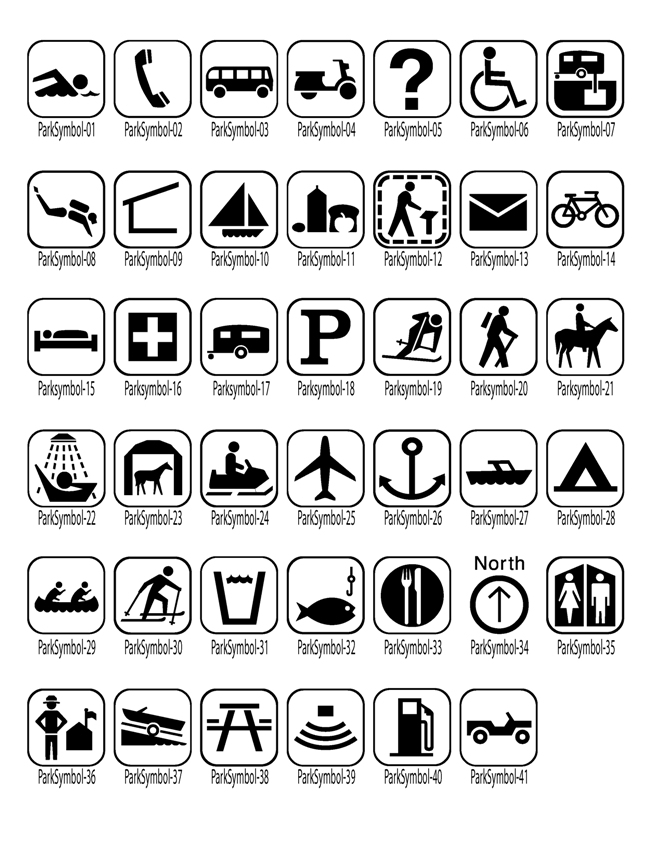 Trail Graphics Symbols
