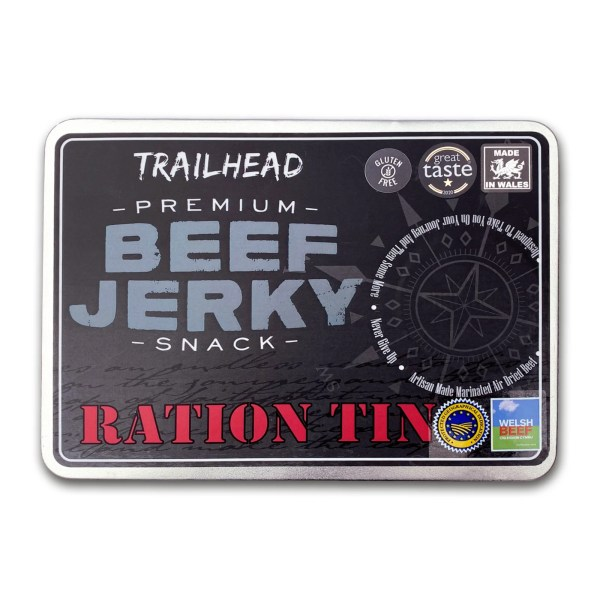 Front of Beef Jerky Gift Tin