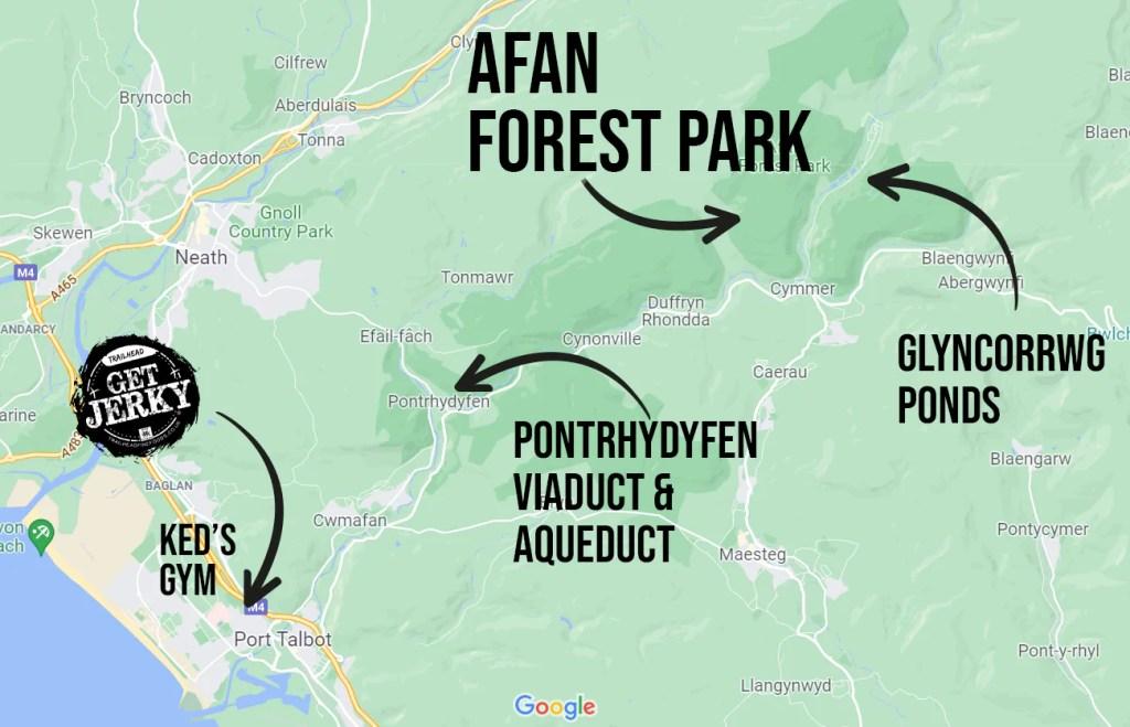 Afan valley map