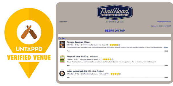 untappd verified THTH