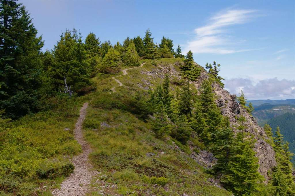The trail to the summit of Table Rock in the Table Rock Wilderness. (Photo by John Sparks)