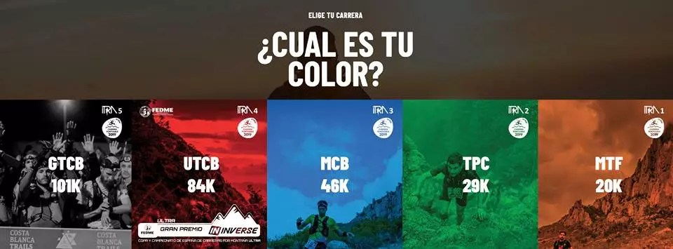 ¿Cuál es tu color? - Costa Blanca Trails 2019