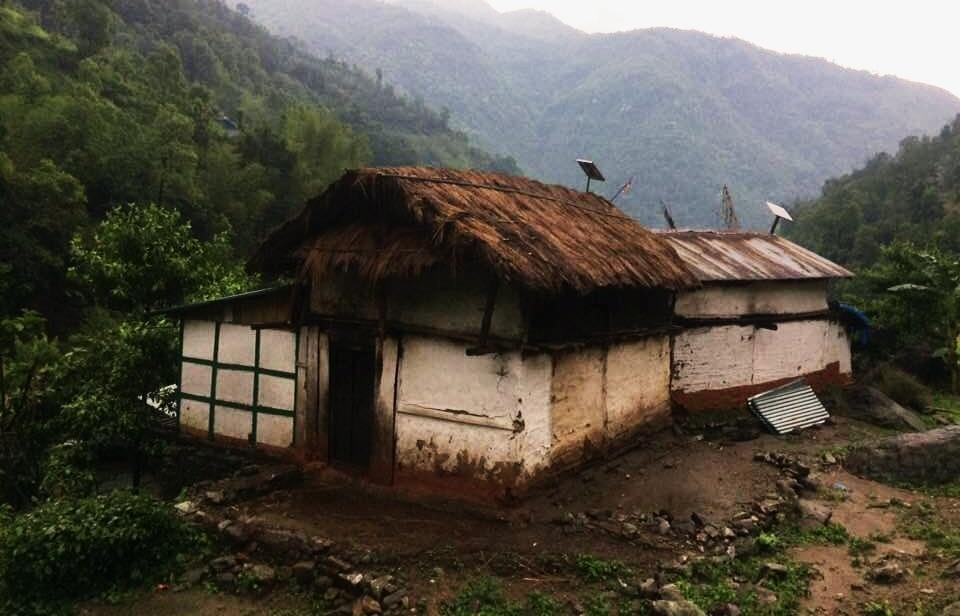 Casas de zonas de montaña en Nepal