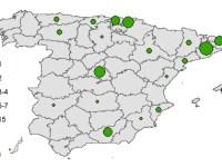 Procedencia de los altletas de Alto Rendimiento de España
