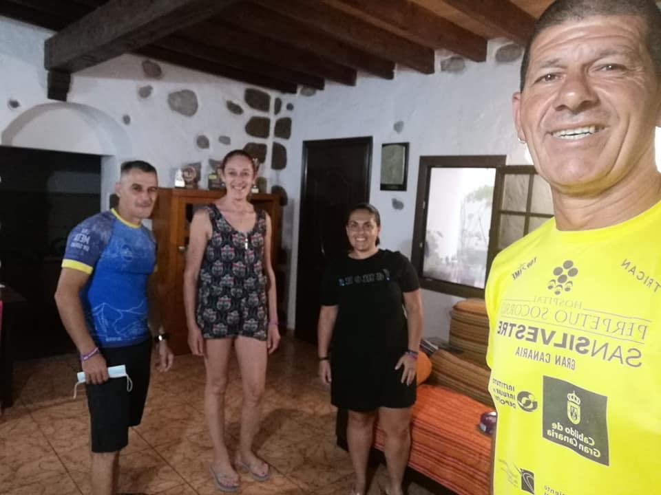 Kilómetros solidarios Sergio Guedes (ACCU Canarias)