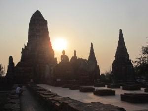 Sunset at Wat Chai Wattanaram