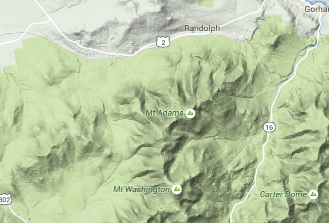 mt adams map