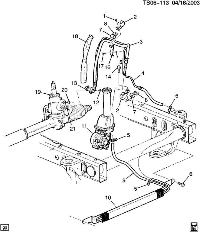 28 2002 Chevy Trailblazer Power Steering Lines Diagram