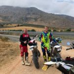 GP rider, Daley Mathison on dirt bikes in Spain