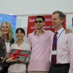 Hội đồng Anh hỗ trợ việc dạy kỹ năng Tin học cho trẻ em khiếm thị Hà Nội