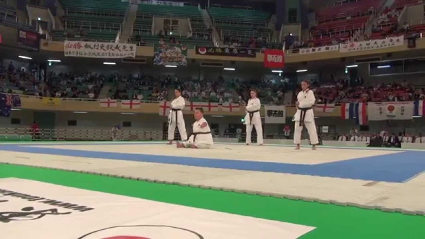 JKA Nederland Dave Kengen Demo Funakoshi Gichin Cup World 2014-2