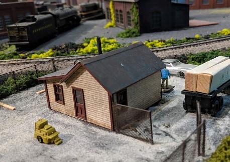 10p Model Tree Street Railway Scenery Landscape HO N Ga