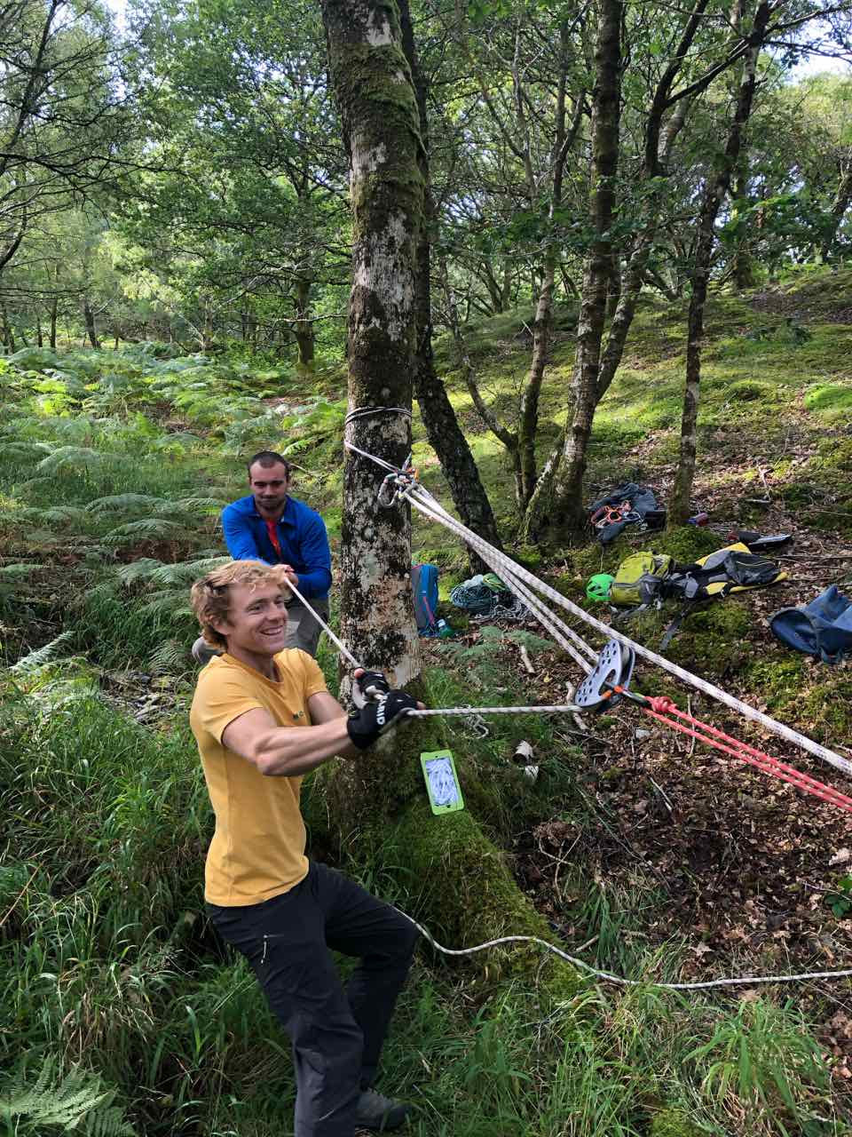 Few photos and data from the Tyrolean workshop (14th Sept 2019)