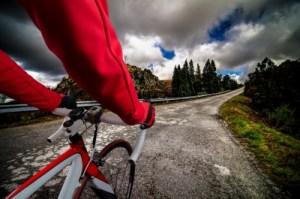 Cyclist on Asphalt