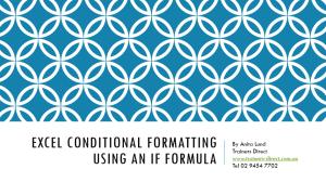conditional formatting if statement