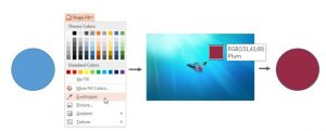 use the eyedropper to match colours in powerpoint