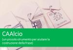 CAAlcio: una piccola idea per aiutare la costruzione della frase