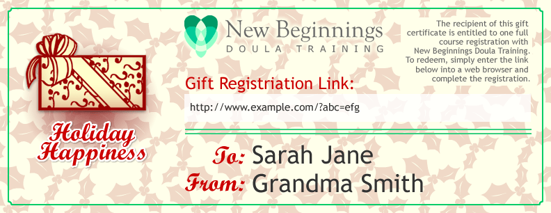 'Tis the Season for Doula Training Gift Certificates