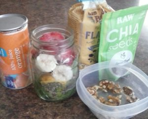 Ingredients for a postpartum/lactation smoothie