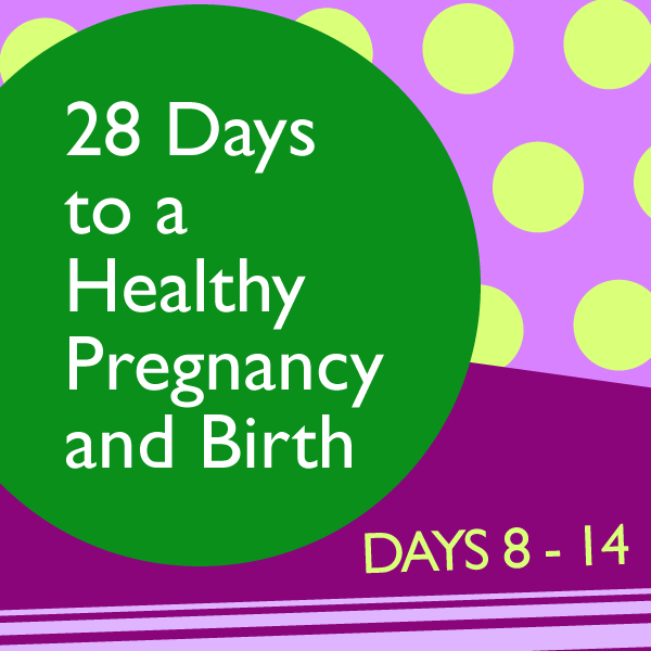 28 Days to a Healthy Pregnancy and Birth: Days 8 – 14