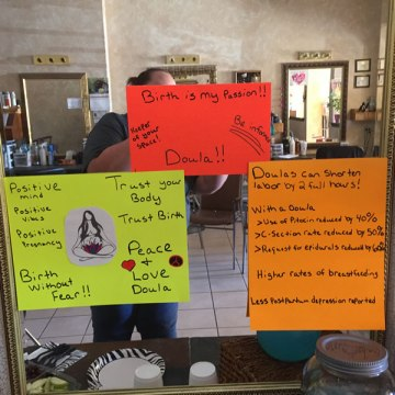 Doulas in the community: Presentation in a Hair Salon