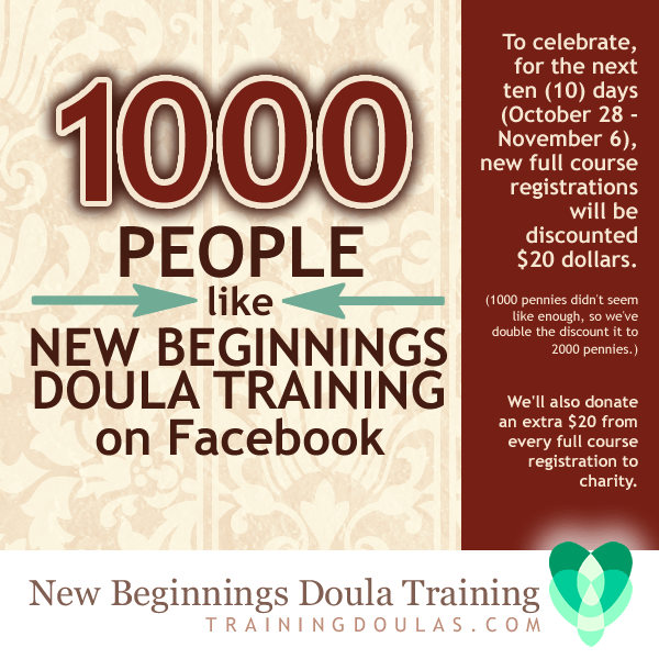 1000 People Like New Beginnings Doula Training on Facebook