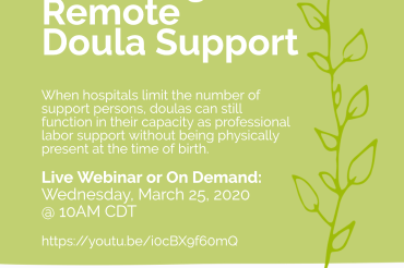 Providing Remote Doula Support that Works with Hospital Requirements